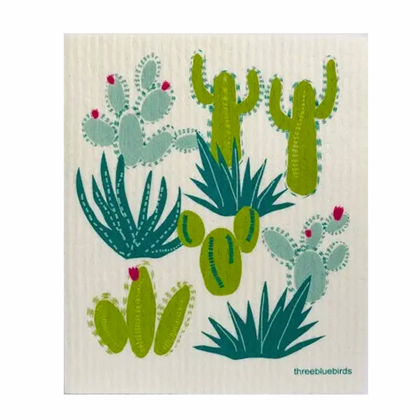 Swedish Dishcloth Cacti + Flowers