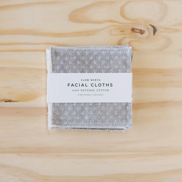 Reusable Facial Cloths - Slate Mix