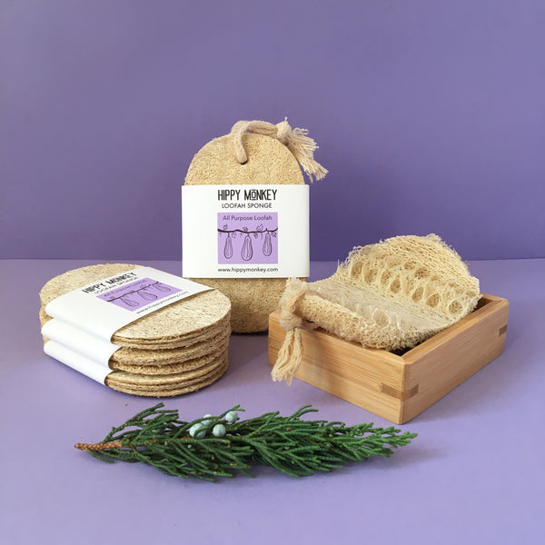 All Natural Loofah Sponge Set - Single Layer