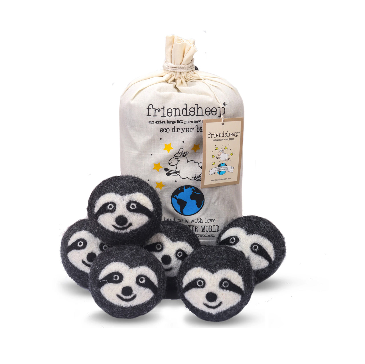 Wool Dryer Balls - Sloth Squad