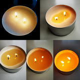 Soy wax candle burning