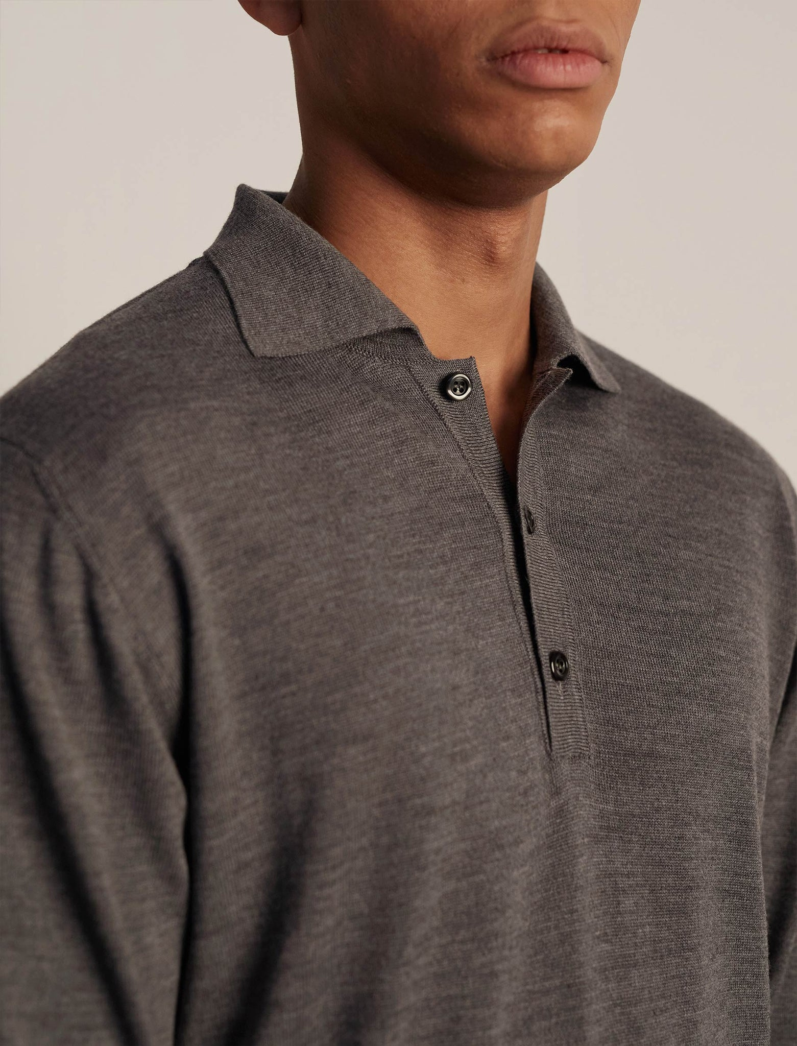 ANOTHER Polo Shirt 2.0, Grey Melange