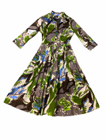 Audrey Dress munch green grey