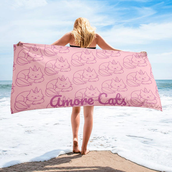 Amore Cats Beach Towel
