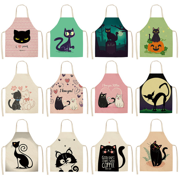 Cute Cartoon Cat Apron- For Kids and Adults