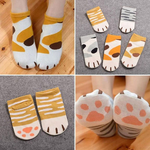 Pawfect Cat Socks For Women- No Show Ankle