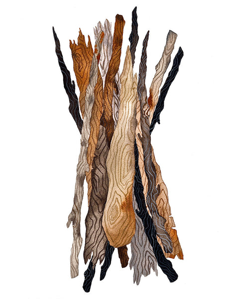 Driftwood Bundle Art Print