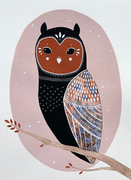 """Little Owl Odie"" Original Painting"
