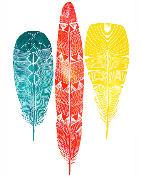 Lhasa Feathers Art Print