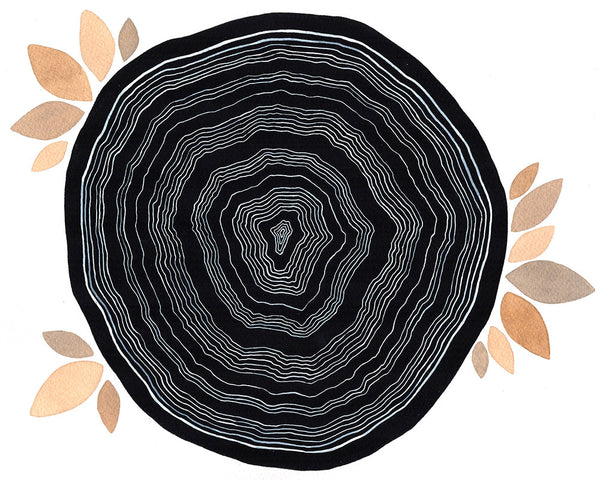 Kali Tree Rings Art Print