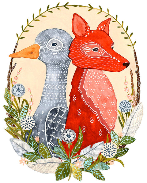 Goose & Fox Original Painting