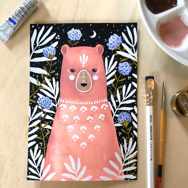 Spirit Bear Luna Art Print