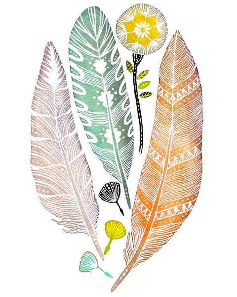 Summer Feathers Art Print