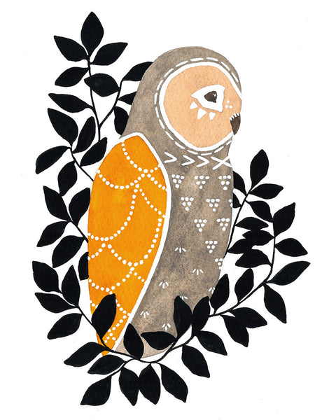 Little Owl Mateo Art Print