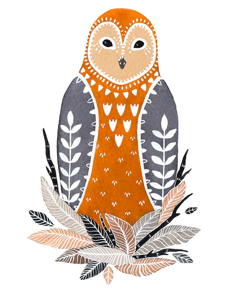 Little Owl Paz Art Print