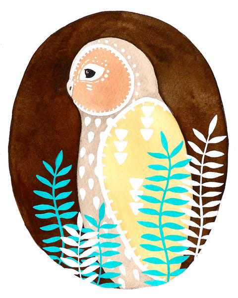 Little Owl Teva Art Print