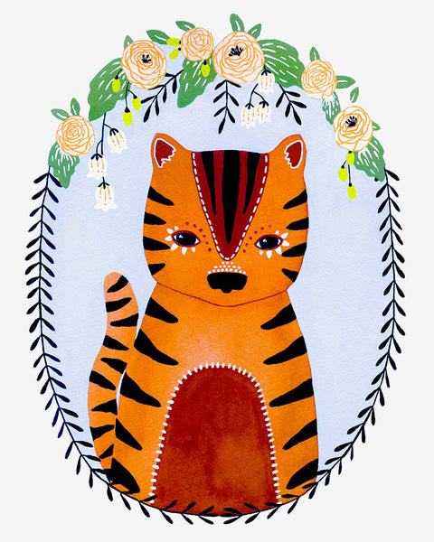 Little Tiger Marmalade Art Print