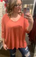 Plus Size Rust Top
