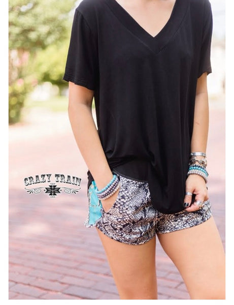 Clearance Crazy Train Python Shorts