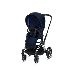Cybex ePriam Stroller - Chrome / Black frame With Seat - Babybuggystore