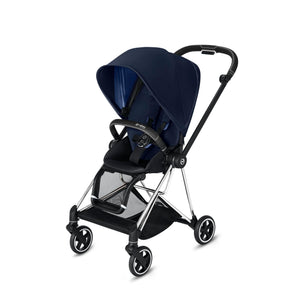 Cybex Mios 2 Stroller - Chrome / Black Frame With Seat - Babybuggystore