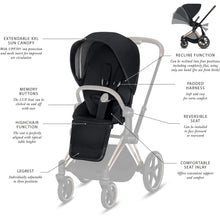 Load image into Gallery viewer, Cybex Priam 3 Seat Pack Koi - Mid grey - Babybuggystore