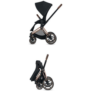 Cybex Priam 3 Stroller - Chrome / Black Frame With Seat - Babybuggystore