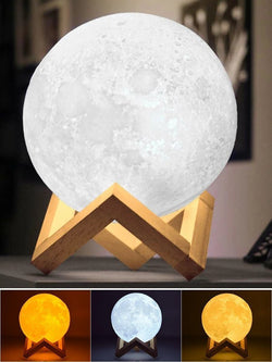Bestsellrz® 3d Moon Lamp Glowing Printed Night light - Lunaglo™ LED Night Lights 10 cm Lunaglo™