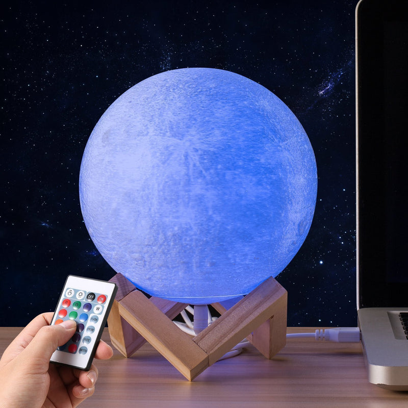 Bestsellrz® 3d Moon Lamp Glowing Printed Night light - Lunaglo™ LED Night Lights 15 cm Lunaglo™