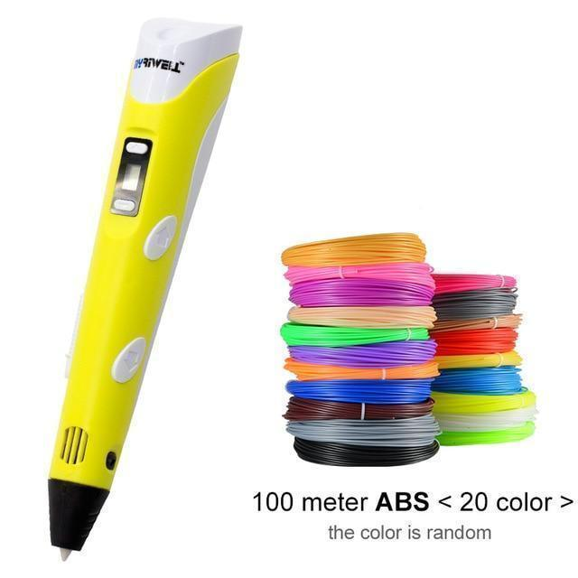 Bestsellrz® 3D Printing Pen For Kids Professional ABS PLA Filament- Inksie™ 3D Pens Yellow / US / 100m Inksie™