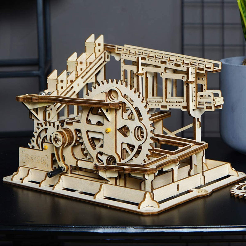 Bestsellrz® 3d Wooden Marble Run Puzzle Toy for Kids Adults - Gearun™ Model Building Kits Cog Coaster Gearun™
