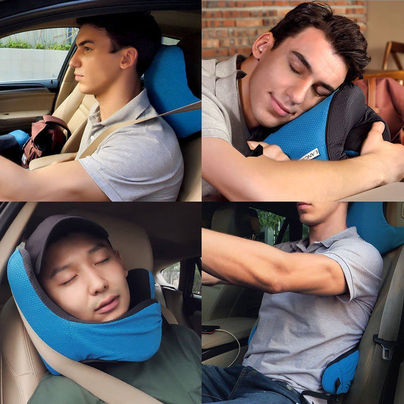 Bestsellrz® Airplane Travel Foldable Neck Support Pillow with Hood - Necuddle™ Travel Pillows Necuddle™