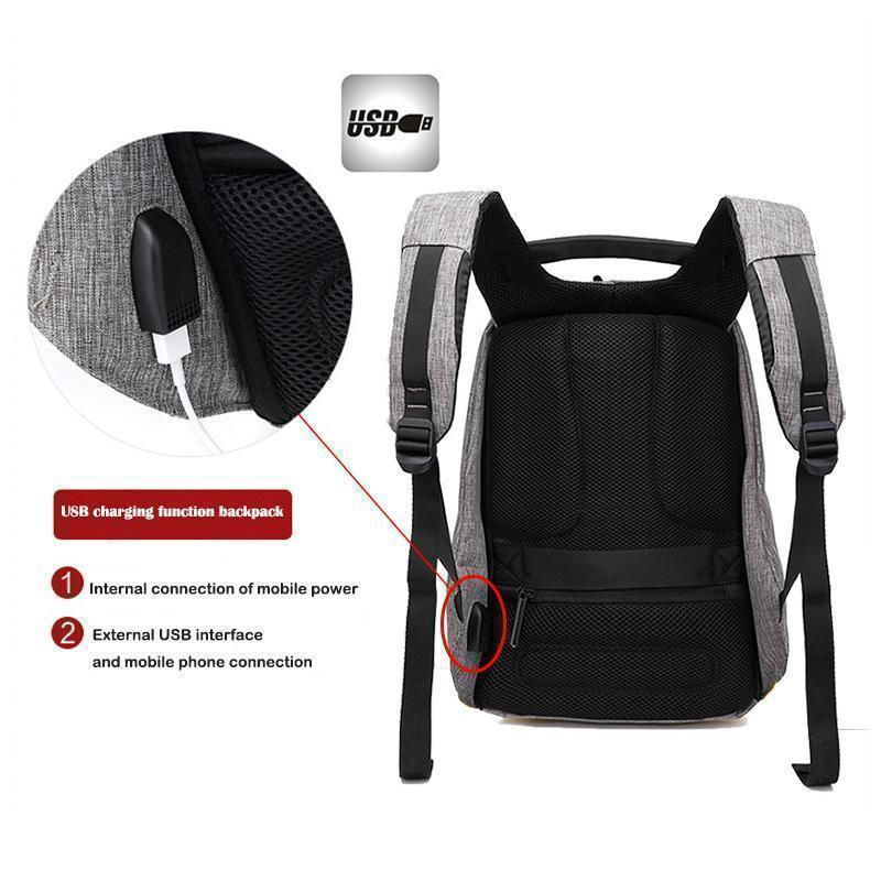 Bestsellrz® Anti Theft Travel Backpack Waterproof Water Resistant Laptop Bags Backpack Anti-Theft Travel Backpack