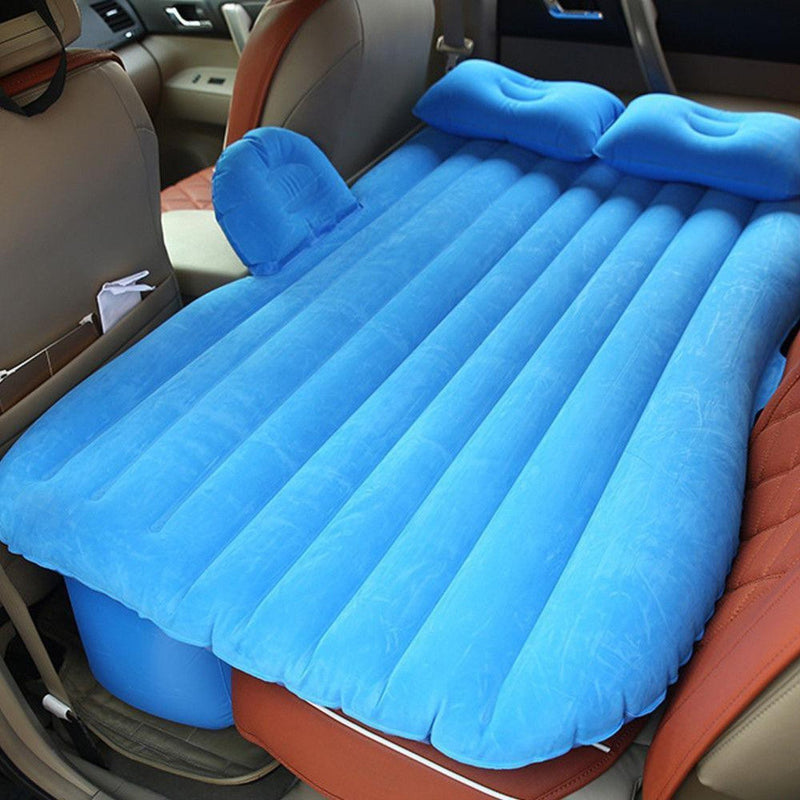 Bestsellrz® Back Seat Inflatable Car Bed  Air Mattress For Truck Camping Cab Bed  - Bedzy™ Car Travel Bed Blue Bedzy™