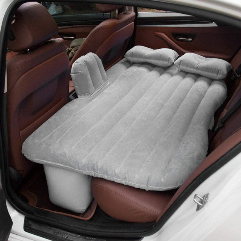 Bestsellrz® Back Seat Inflatable Car Bed  Air Mattress For Truck Camping Cab Bed  - Bedzy™ Car Travel Bed Grey Bedzy™