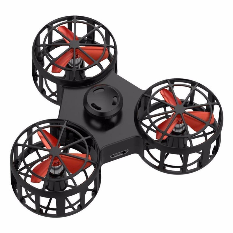 Bestsellrz® Best Flying Fidget Spinner for Anxiety and Stress Relief Cool Toys- Flyget™ Fidget Spinner Jet Black FlyGet™ Spinner