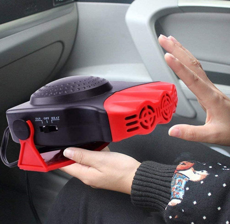Bestsellrz® Car Defogger Heater In-Car Windshield  Defroster Portable Car Fan - Carzix™ Heating & Fans Red Carzix™