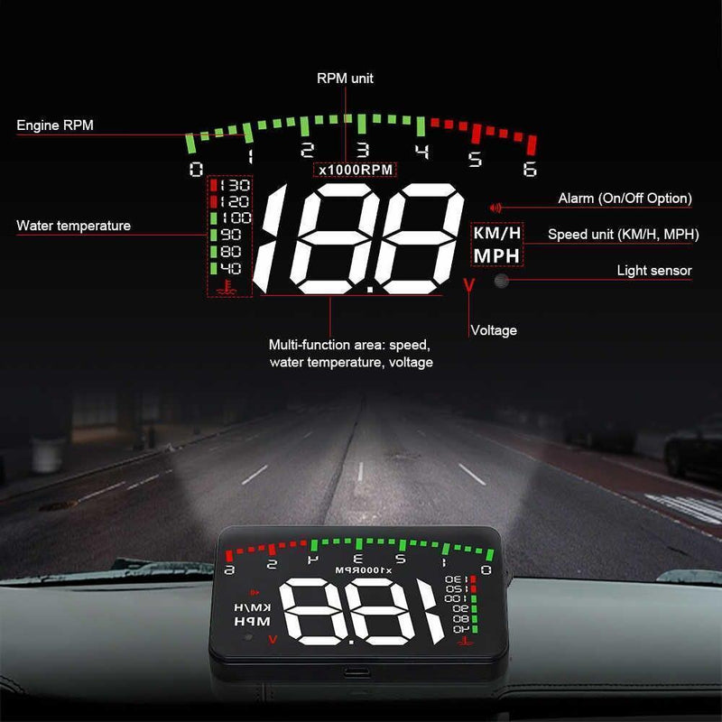 Bestsellrz® Car Head Up Display HUD Projector Device - Vuflector™ Head-up Display With Reflector Vuflector™