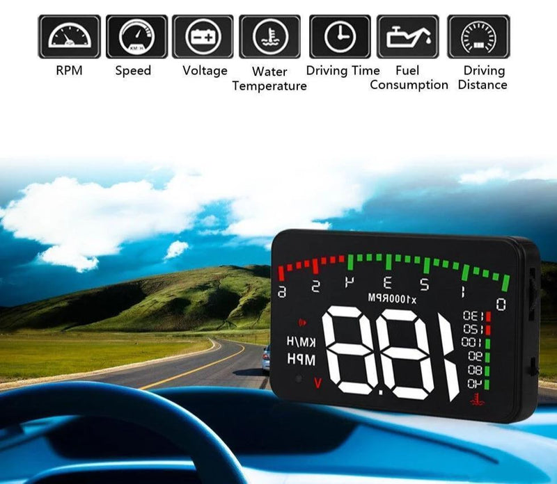 Bestsellrz® Car Head Up Display HUD Projector Device - Vuflector™ Head-up Display Without Reflector Vuflector™