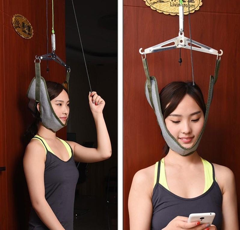 Bestsellrz® Cervical Traction Device Over the Door Neck Decompression Harness Traction  Massage & Relaxation Neck Traction Device