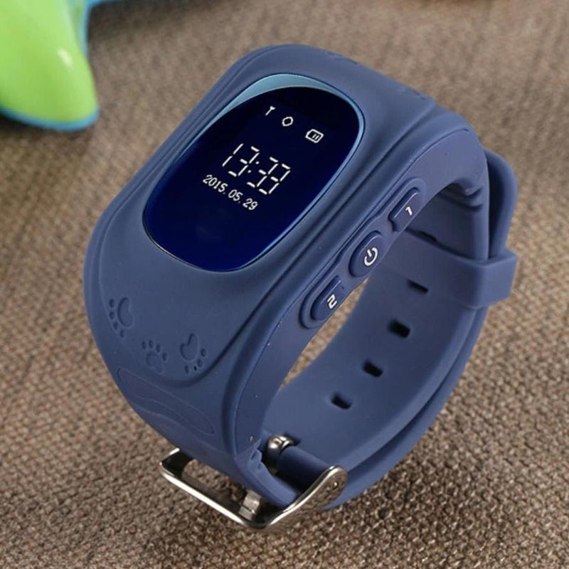 Bestsellrz® Children Locator Tracker GPS Watch that Allows Call Texting - Qinitor™ Kids GPS Watch Dark Blue Qinitor™