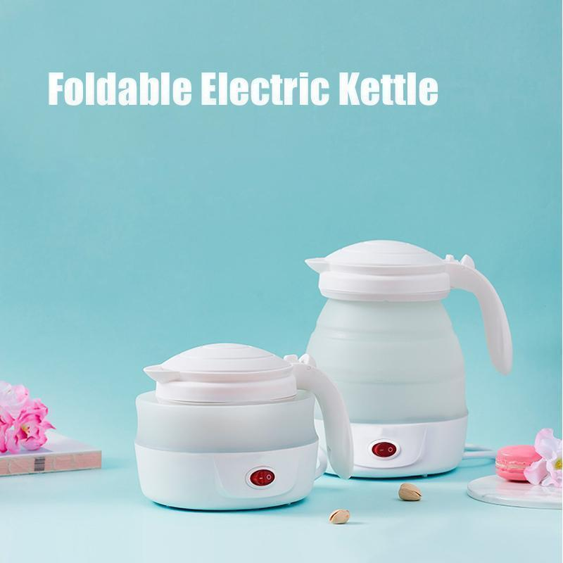 Bestsellrz® Collapsible Electric Kettle Foldable Water Boiler Travel Mini Portable Electric Kettles White Evaporse™