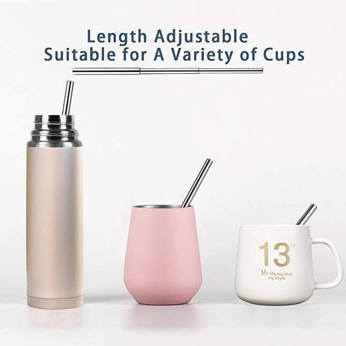 Bestsellrz® Collapsible Reusable Stainless Steel Metal Straws with Case - Ecostro™ Drinking Straws Ecostro™