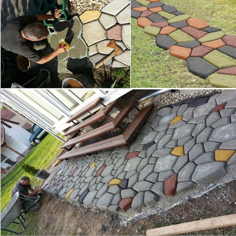Bestsellrz® Concrete Stepping Stone Molds DIY Pavers Path Maker - Moldium™ Paving Molds Moldium™