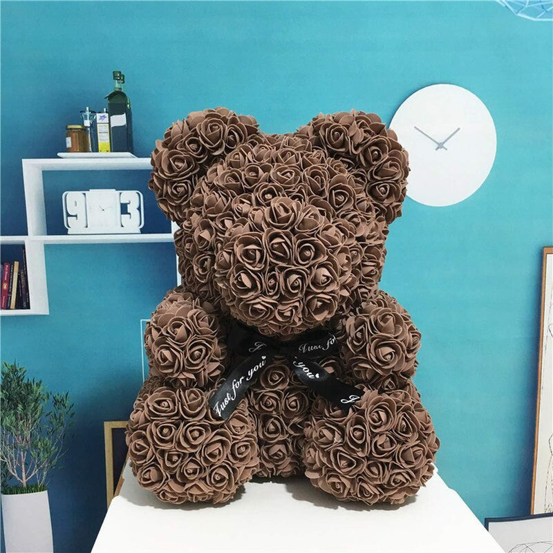Bestsellrz® Cute Teddy Bear Toy Lovely Rose Bear Soft Toy - Snooxi™ Rose Bear Coffee / 25cm Snooxi™