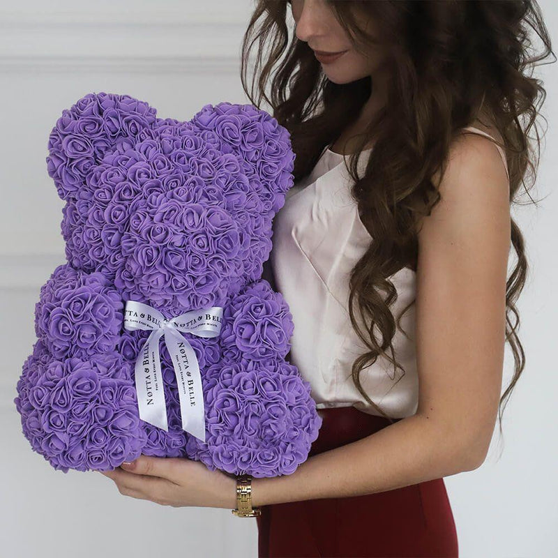 Bestsellrz® Cute Teddy Bear Toy Lovely Rose Bear Soft Toy - Snooxi™ Rose Bear Purple / 25cm Snooxi™