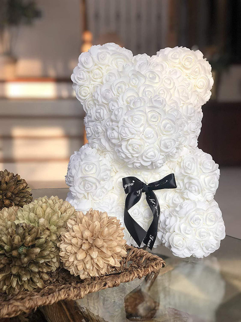 Bestsellrz® Cute Teddy Bear Toy Lovely Rose Bear Soft Toy - Snooxi™ Rose Bear White / 25cm Snooxi™