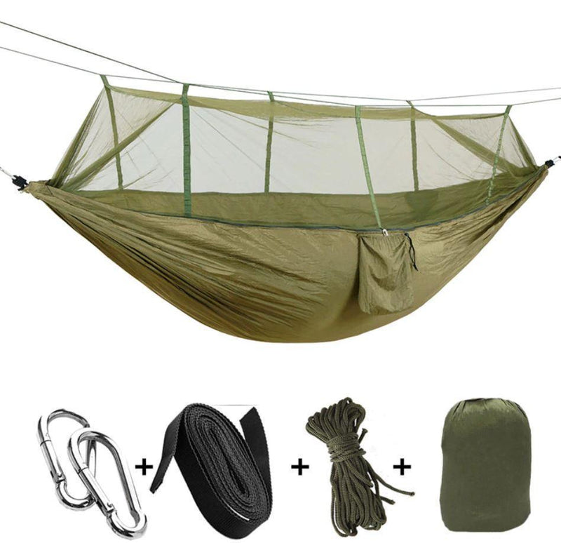Bestsellrz® Double Camping Hammock With Mosquito Net - The Guardian™  Hammocks army green The Guardian™ Hammock