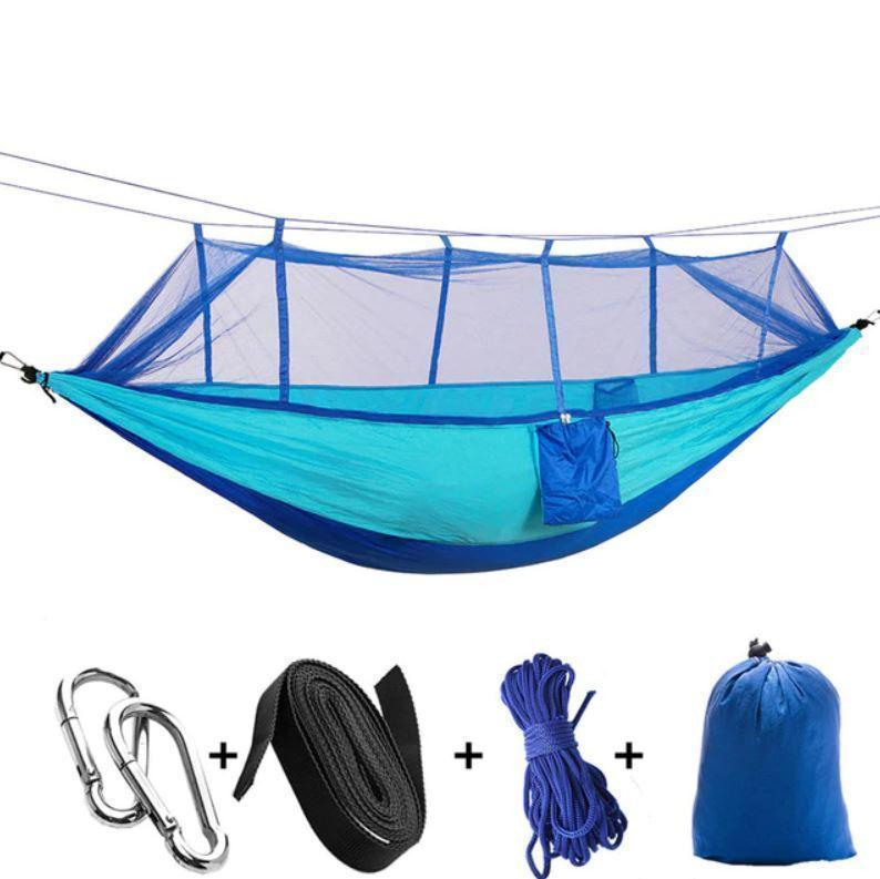 Bestsellrz® Double Camping Hammock With Mosquito Net - The Guardian™  Hammocks blue The Guardian™ Hammock