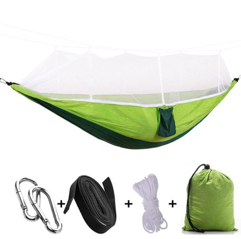 Bestsellrz® Double Camping Hammock With Mosquito Net - The Guardian™  Hammocks Green The Guardian™ Hammock